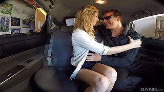 Quickie fucking in the back of the car with adorable Rachel James