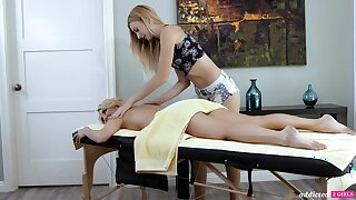 A hot MILF adventures an flying rub-down and that sultry woman is ergo sweet