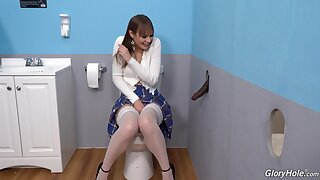 Gloryhole perfection shows the young tiro whore sliding wild on the BBC