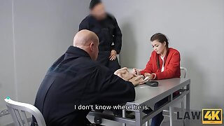 Teen doesnt know where security officer have taken her but she gets fucked