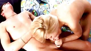 Adorable plump gilded Russian teenage goddess Kate sucking and jerking missing a large schlong