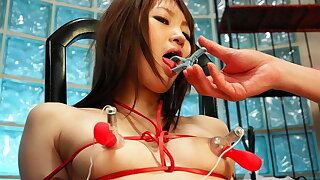 Rina Serizawa got tied up for a group of excited guys