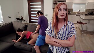 Nympho Kendra Spade seduces stepbrother in front for stepmom