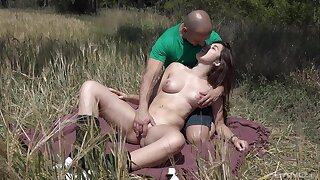 Outdoors fucking between a accidental guy and murkiness explicit Diana Rius