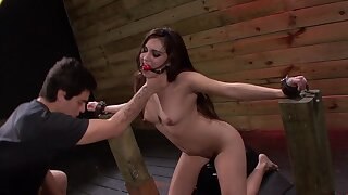 Submissive beauty Stella May endures a rough BDSM encounter