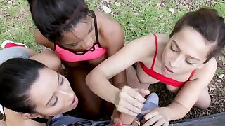 Unreserved orgy When Annika Eve, Mya Mays, plus their